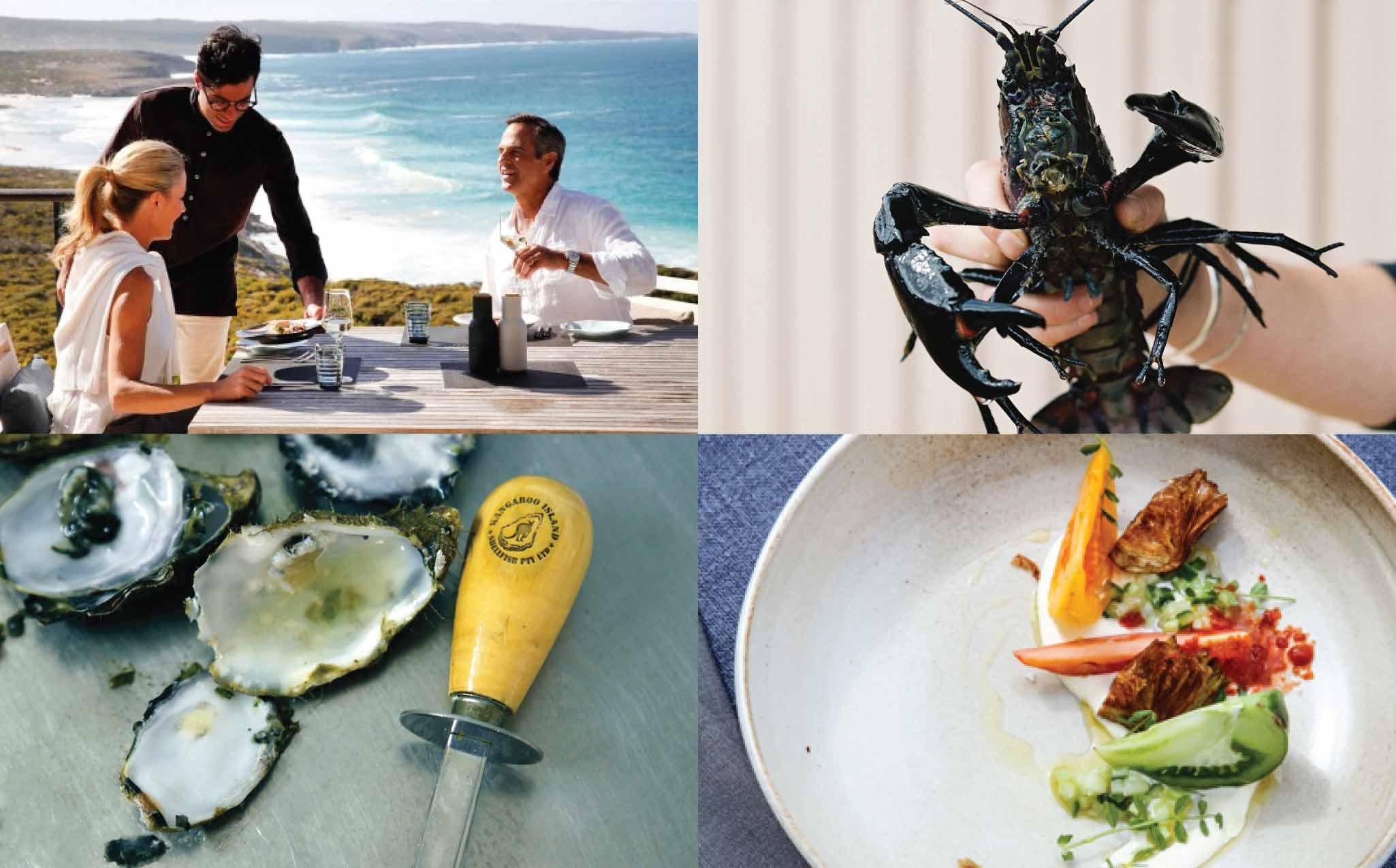 Kangaroo Island Luxury Walk Southern Ocean Lodge Dining