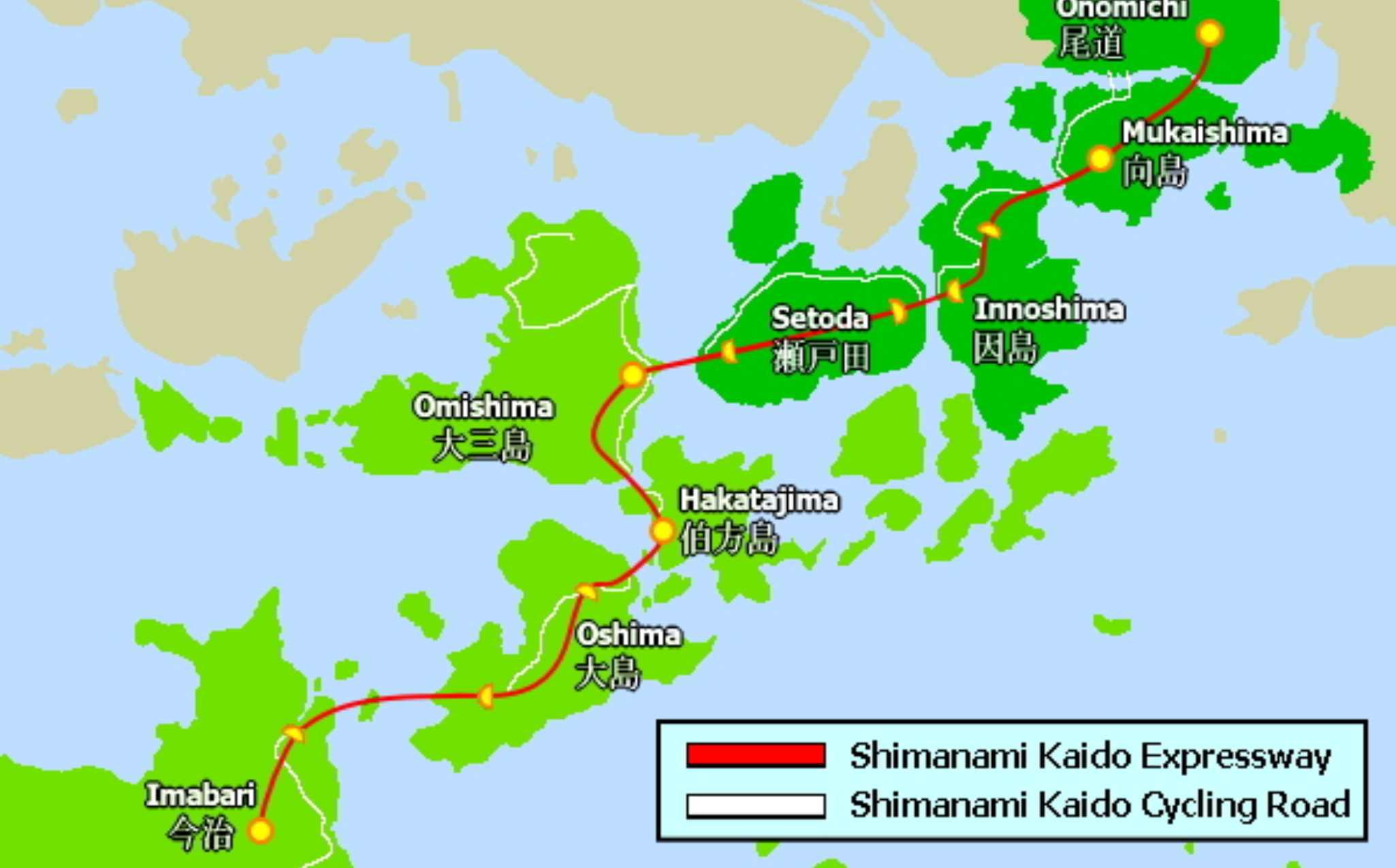 Shimanami Kaido Cycling Map