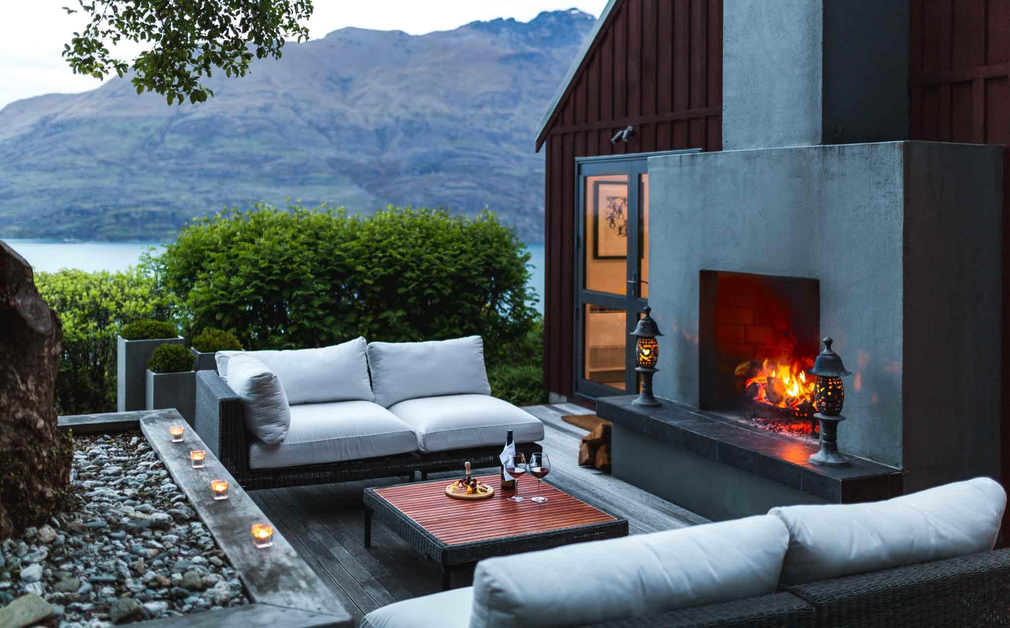 Azur Lodge Fireplace