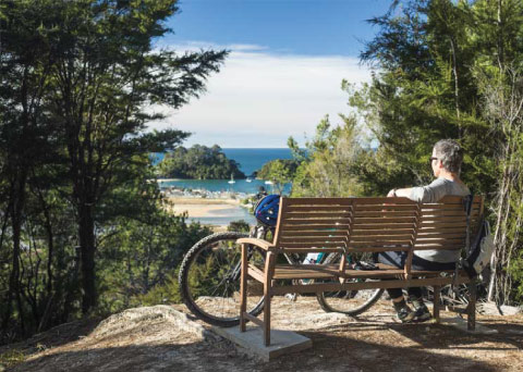Tasman's Great Taste Trail Cycling Tour Cyclist Rest With A View