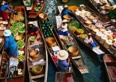 Aqua Mekong Luxury Cruise Excursion Floating Market