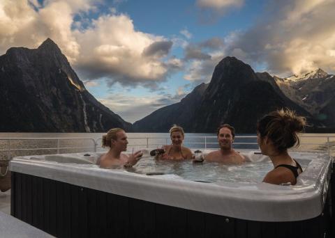 Milford Sound Luxury Cruise Hot Tub