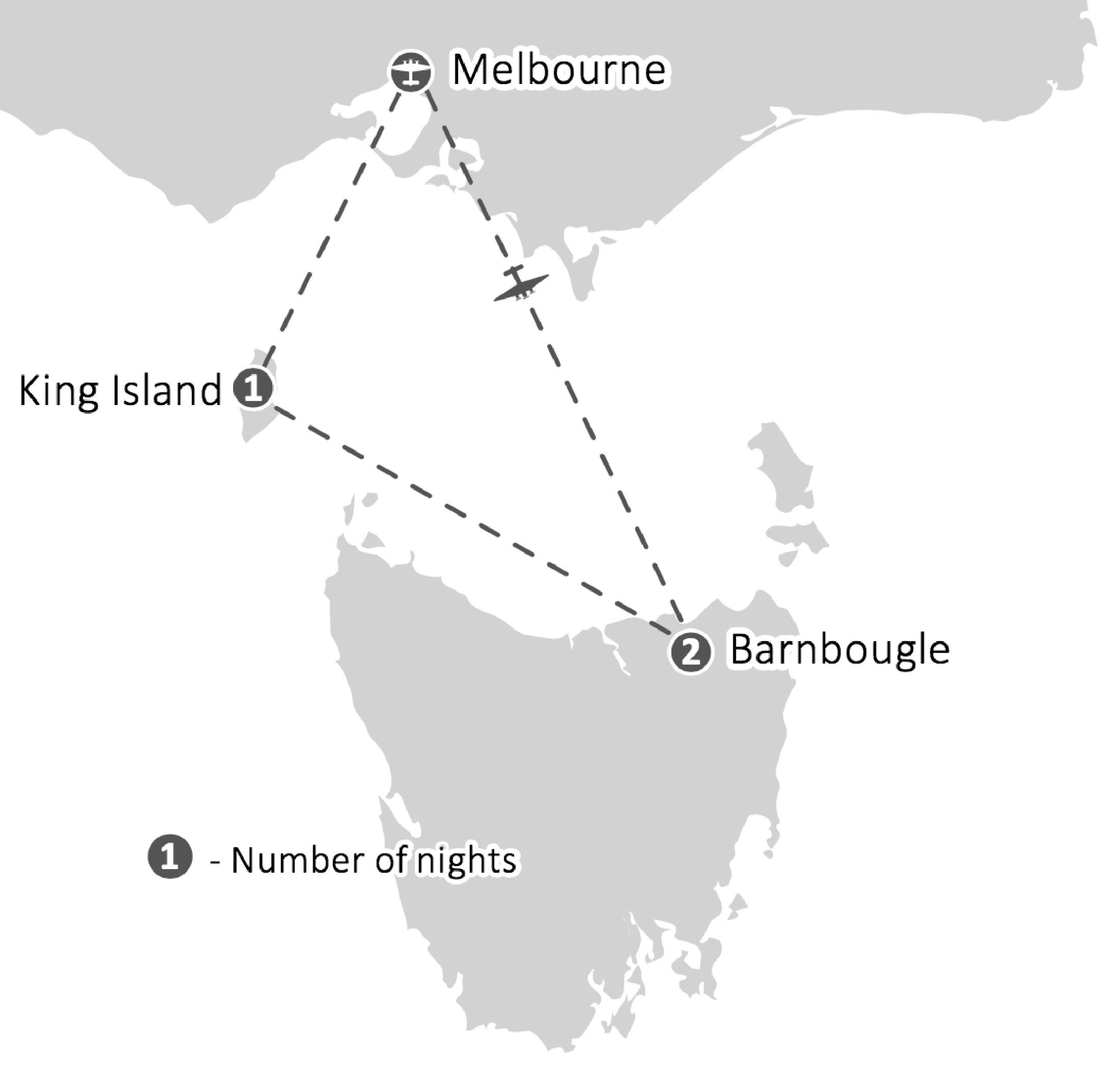 Ultimate Tasmania Golf Tour Barnbougle Dunes, Lost Farm, Cape Wickham,Ocean Dunes