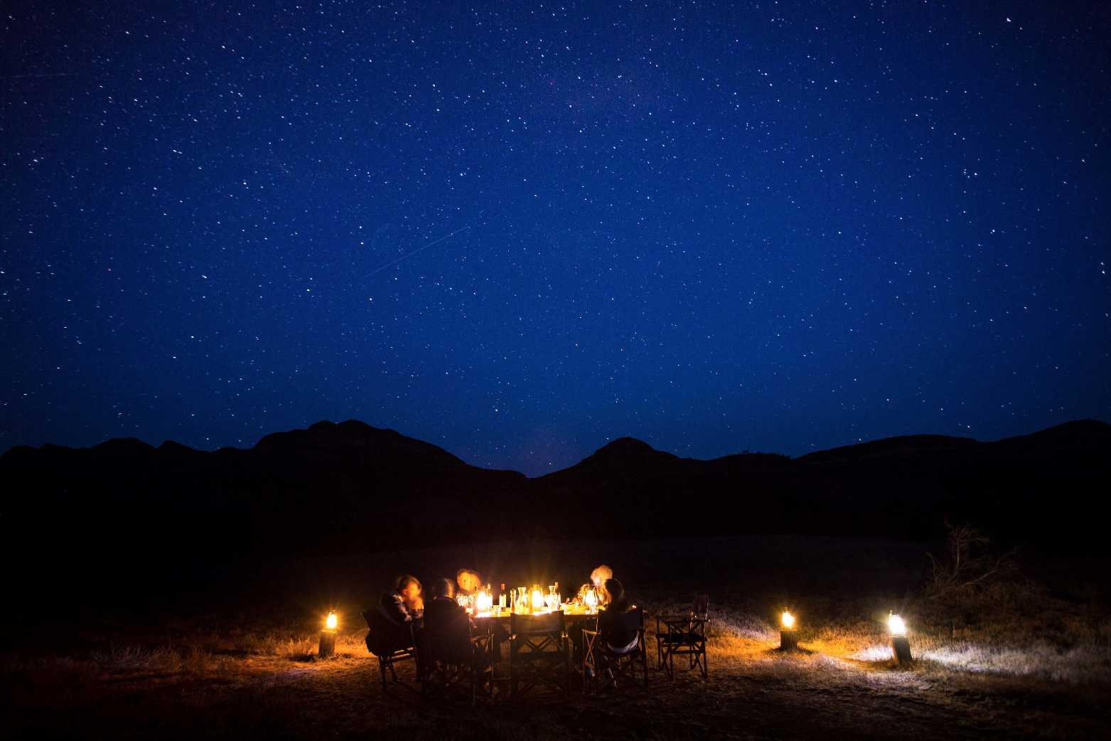 Flinders Ranges Luxury Outback Walk Camp Dinner