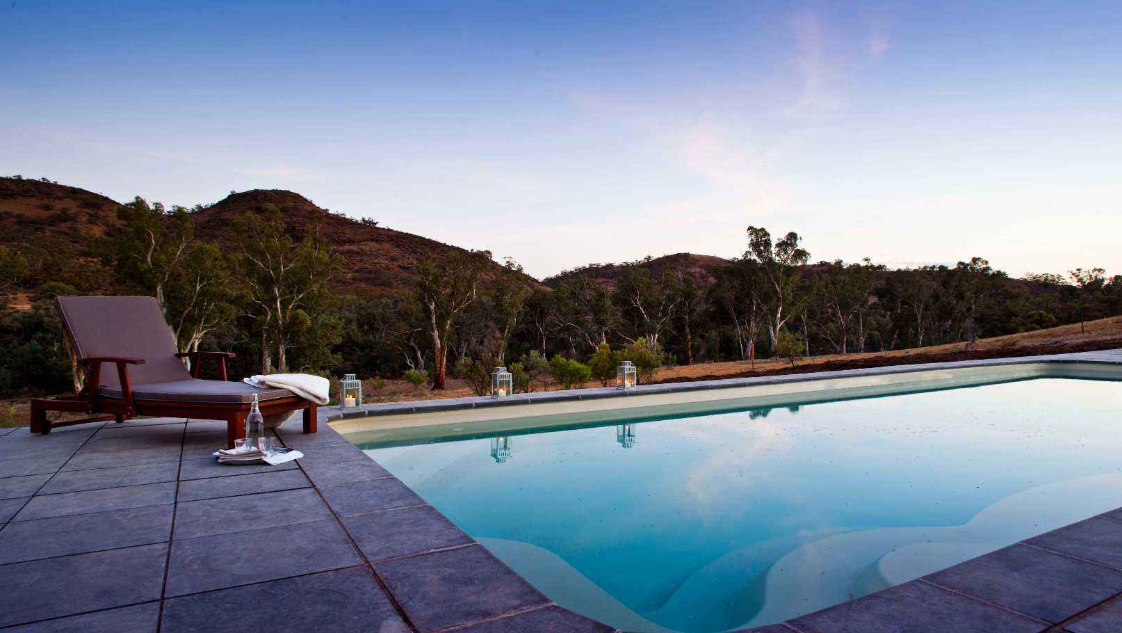 Flinders Ranges Luxury Outback Walk Homestead Pool