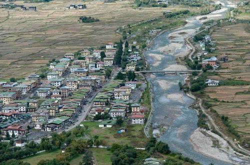 Bhuthan-luxury-trekking-Uma-Paro-town