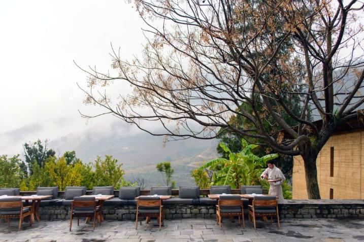 Bhutan Luxury Holiday Amankora Punakha Lodge Terrace