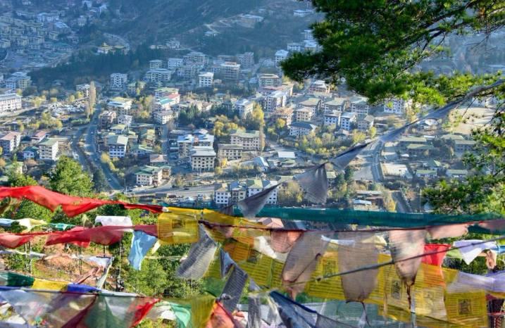 Bhutan Trekking View of Thimphu City