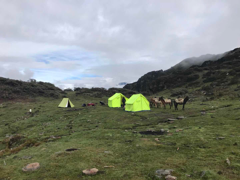 Bhutan Trekking Druk Path Trek Camping