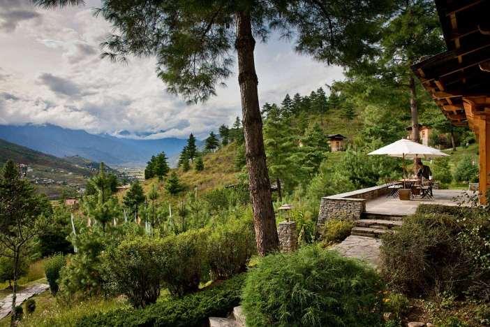 Bhuthan Luxury Trekking COMO Uma Paro Terrace