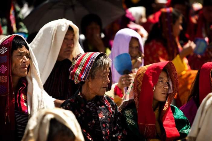 Bhutanese Women in Traditional Dress