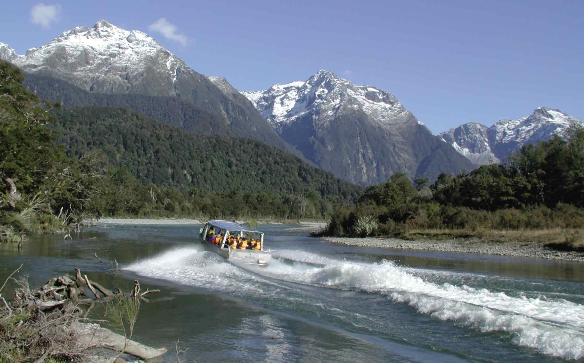 Fiordland Hollyford Track Walk - Jet Boat