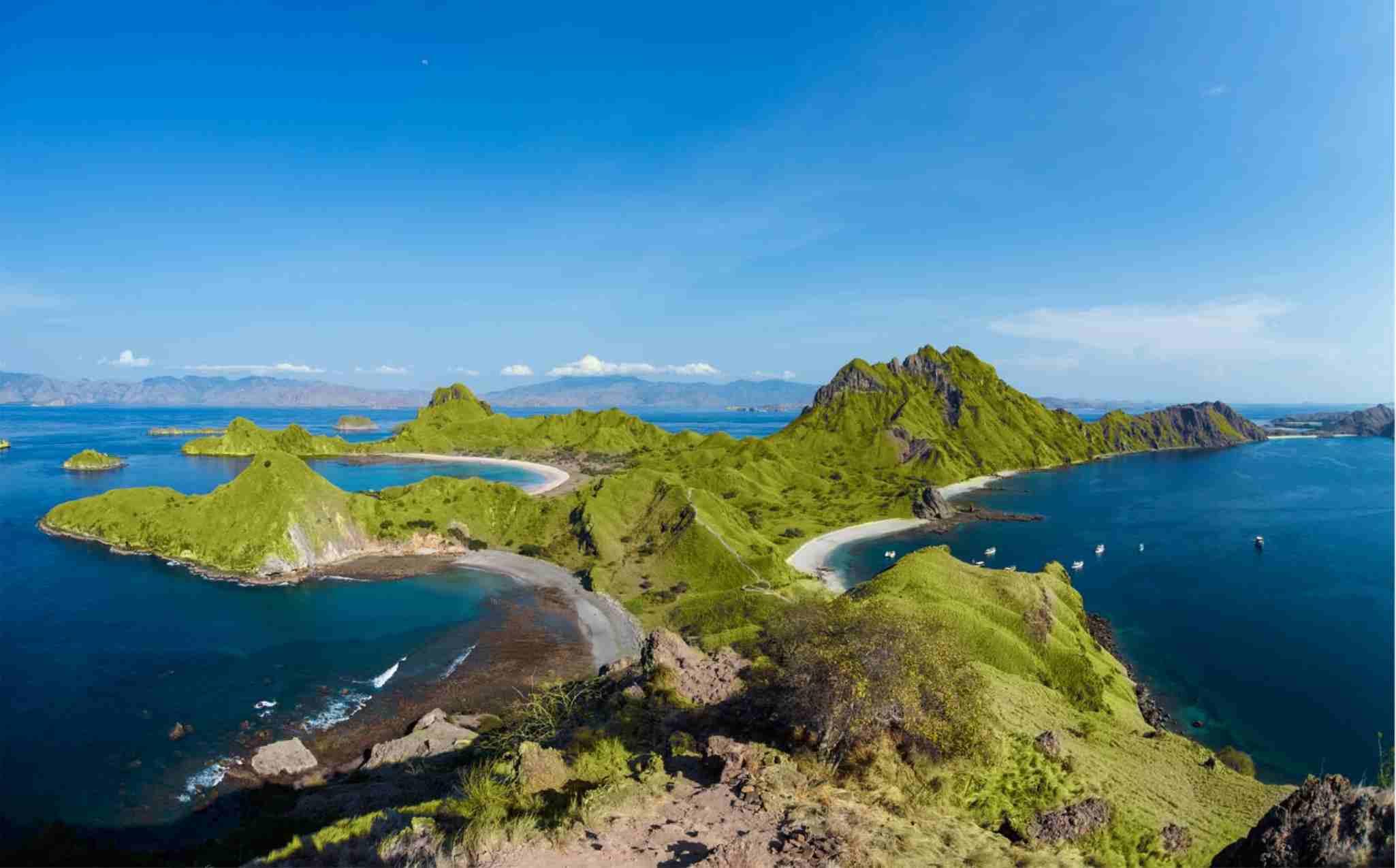Padar Island Landscape