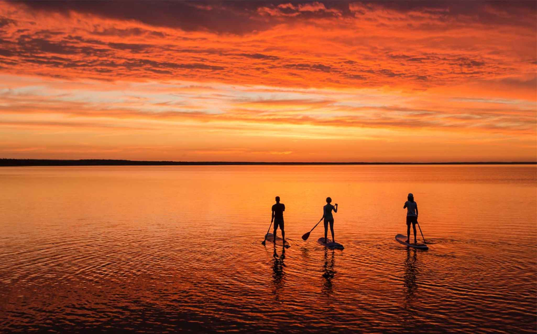 Stand Up Paddle in Sunset