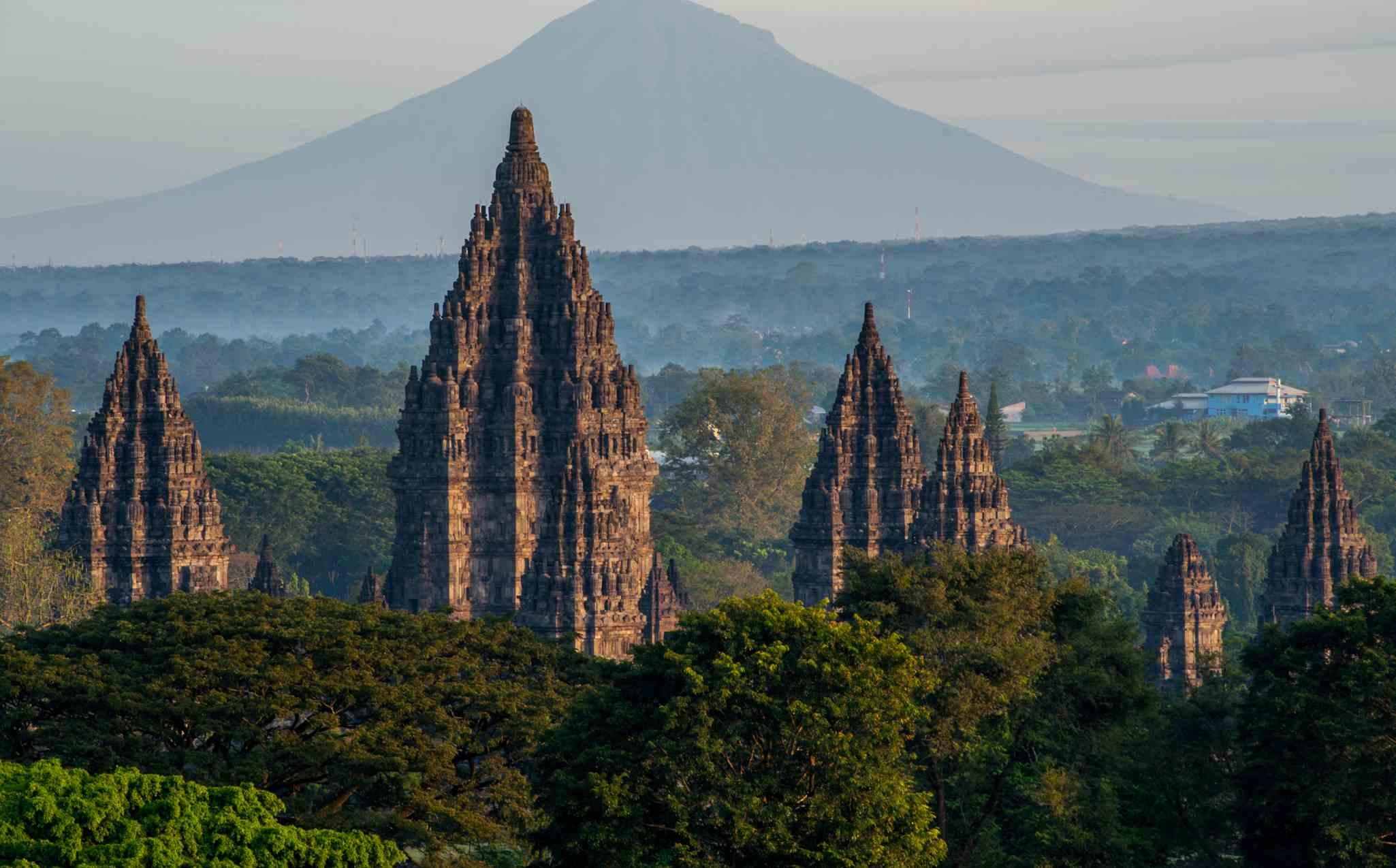 Ancient Hindu Temples in Prambanan