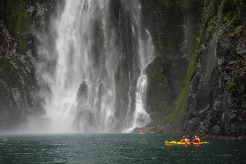 Milford Sound Waterfall Kayaking