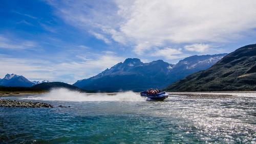 South Island New Zealand Queenstown Dart River Jet Boat
