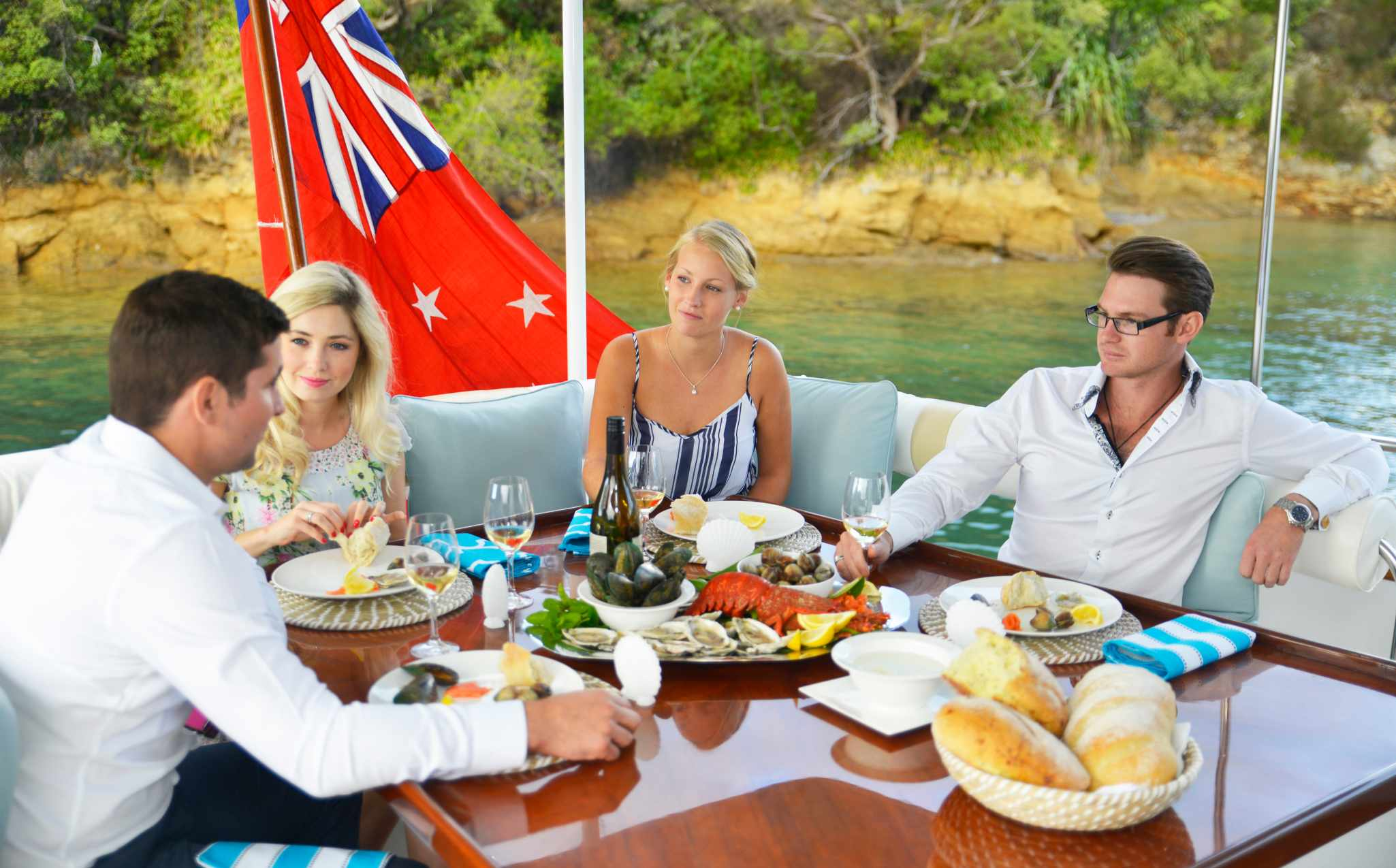 Tarquin Cruise Lunch on Board