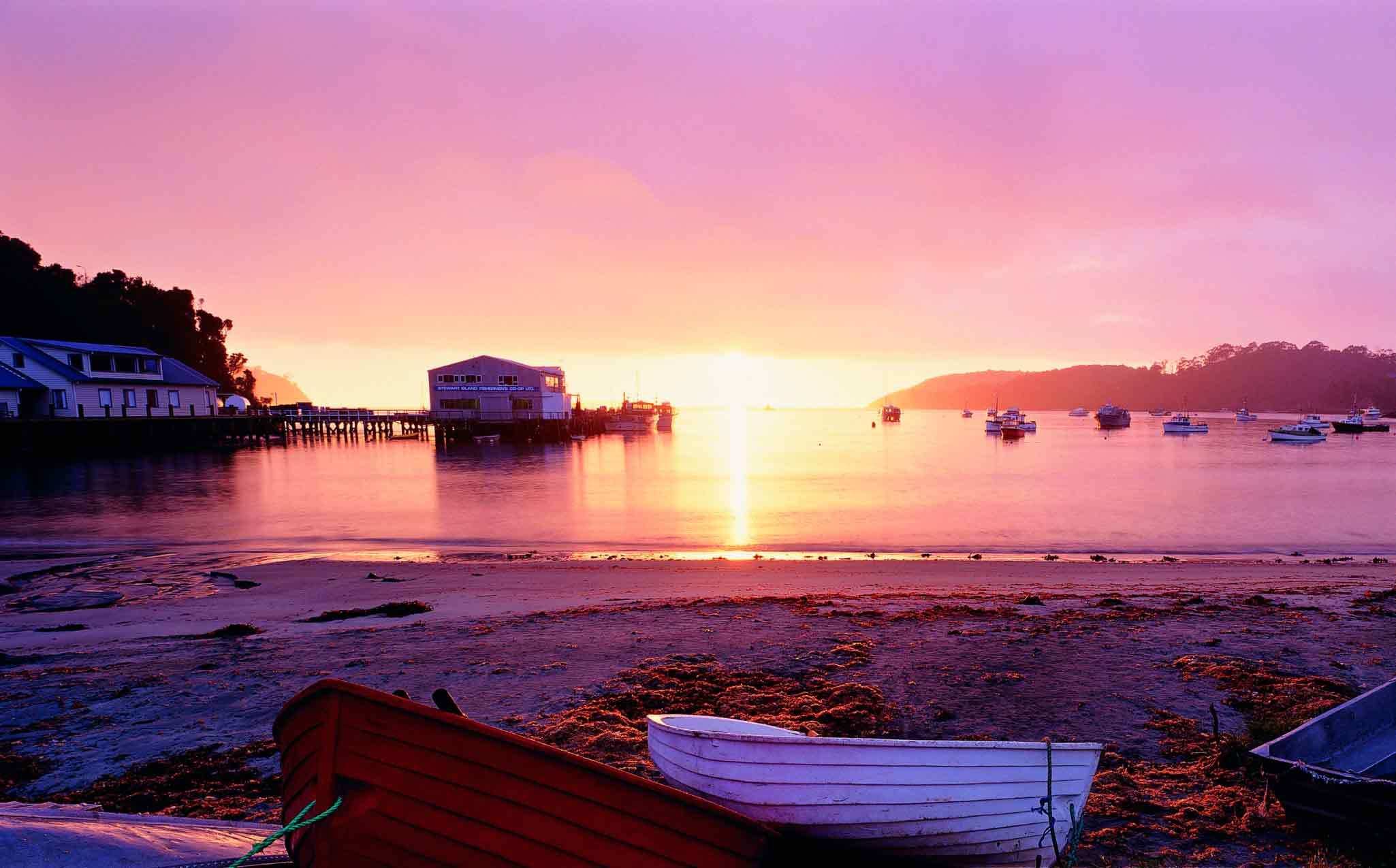 New Zealand Stewart Island Jetty
