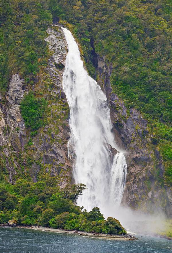 New Zealand Walk Milord Sound Waterfall
