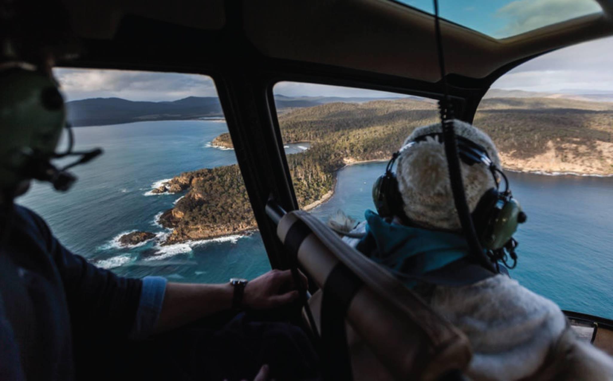 Flight to Melaleuca Southwest National Park Tasmania