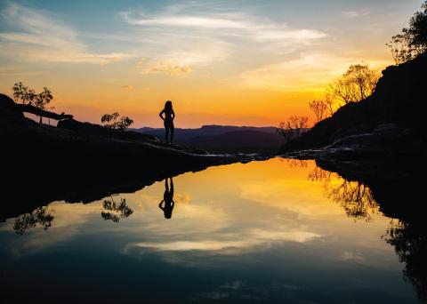Kakadu Adventure Gunlom Plunge Pool Sunset